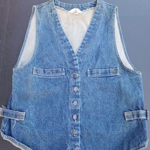 Vintage Big E Denim Vest Medium-Large 80s